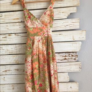 Plenty Flock Silk Summer Dress